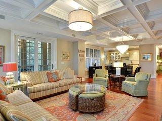 NEW LISTING! Luxurious villa w/screened porch, shared pool & views, near beach