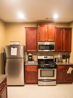 Stocked kitchen w/a Keurig...options available but feel free to bring your favorite  K Cup