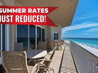10-20% OFF Summer!!! GULF VIEW Beach Condo * Resort Pool/Spa + FREE VIP Perks