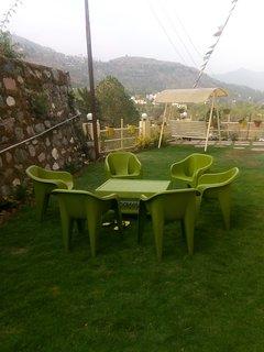 Our private lawn area