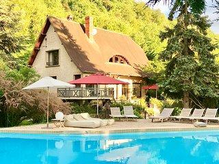 maison villa W.E vacances piscine jardin Normandie Eure cheminee Paris 100 kms