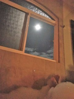 View of Moon from Jacuzzi Tub