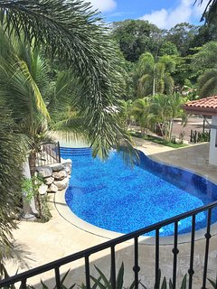 View of Pool from Bedroom Balcony
