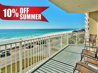 20% OFF Summer! GULF VIEW DLX Beach Condo * Resort Pool/Spa + FREE VIP Perks!