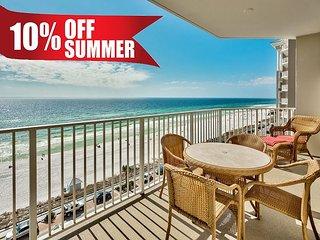 10-20% OFF Summer! GULF VIEW DLX Condo * Resort Pool/Spa Gym + FREE VIP Perks