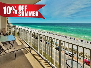 20% OFF Summer! GULF VIEW DLX Beach Condo * Resort Pool/Spa Gym + FREE Perks!