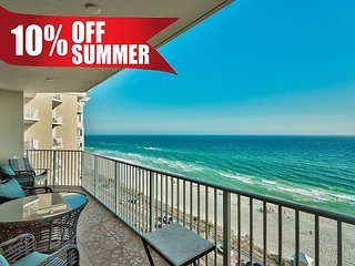 10-20% OFF Summer! GULF VIEW Beach Condo*Resort Pool/Spa Gym + FREE VIP Perks