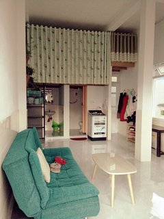 The apartment is enough furniture with a bedroom on top, kitchen, living room, bathroom, near centre