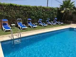 Casas El Suspiro II, piscina, playa, barbacoa, aire acondicionado