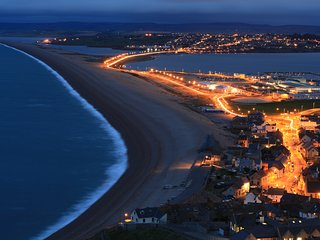 Chesil Beach at night is truly beautiful