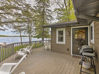 NEW! Hayward Home w/Private Dock on Lake Nelson!