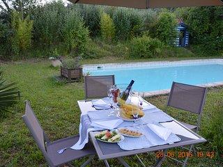 Maison de maitre/10 pers./ piscina/spa/WiFi
