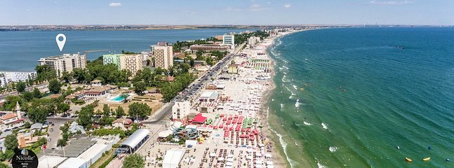 Property aerial view-The real ❤ of Mamaia beach area-day time
