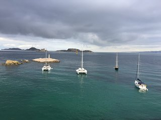 Appartement 4 pièces terrasse vue mer, proximité immédiate plage des catalans