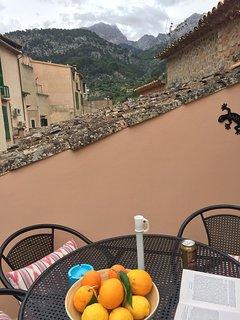 Sun terrace with mountain views