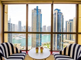 Astounding 2 bedroom JBR apt with Marina Views