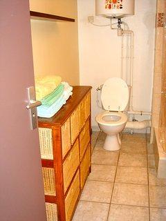 WC dans la salle d'eau