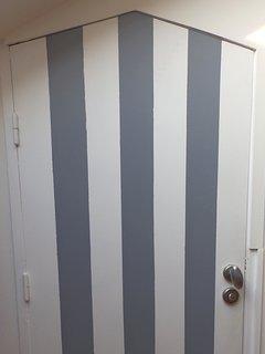 Les WC séparés de la suite, comme une cabine de plage !