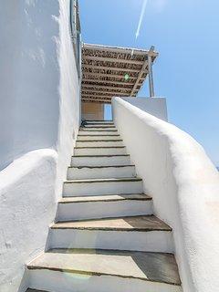 Main entrance - external staircase