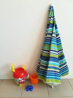 Beach umbrella  (free of charge on demand)