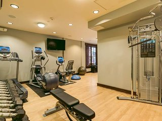 There's a community fitness center should you feel the need to work up a sweat indoors.