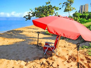 Grab a beach chair and umbrella for a day at the beach.  We provide beach chairs and umbrellas in each condo for guest use.