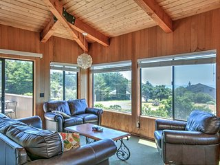 NEW LISTING! Oceanview home w/ deck & shared pool, saunas & tennis!