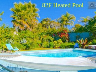 NEW! Family Oasis with Private Pool & Spa by the Beach & Downtown Area