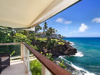 Poipu Shores 101C Ocean Front Remodeled with Designer Finishes
