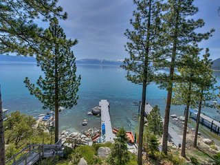 Lakefront home with private dock, hot tub, outdoor space - Meeks Bay Getaway