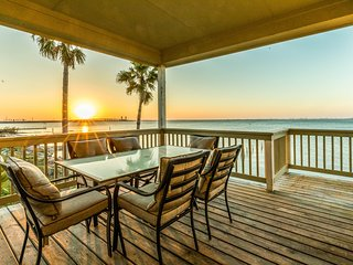 NEW! Waterfront Galveston Home w/Hot Tub & Firepit