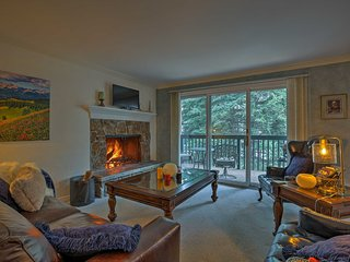 East Vail Condo w/Fireplace & Deck over Gore Creek