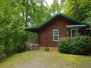 2 Bedroom 2 Bath Private Log Cabin, Hot Tub, Fire Pit, Single Level
