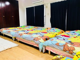 Ikebukuro Sunshine City 10pax Pokemon room!! Free WIFI!