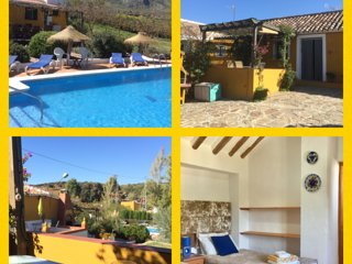 Walnut Farm, Casa Rosa, sleeps 4, stunning large heated pool, bar, WIFI, BBQ etc