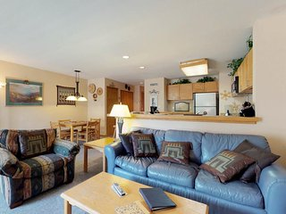 NEW LISTING! Spacious ground-level condo with ski views, shared pool and hot tub