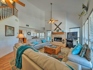 NEW! Galveston House w/ Gulf View - Walk to Beach!