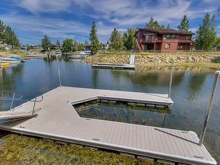 Park your a boat (or 3!) at the private dock right in the backyard.