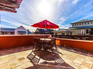The outdoor space is one of the best parts of this condo. Enjoy drinks or dinner on your spacious patio.