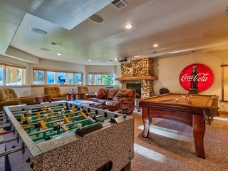 You might find yourself competing into the wee hours of the morning on the foosball or pool table.