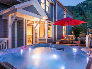 Enjoy a bubbling hot tub after a hike or ski session on the slopes.