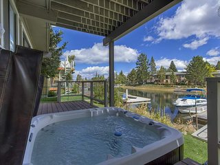 Enjoy a dip in the hot tub after a long day of skiing or boating.