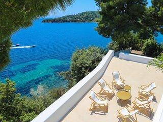Beachfront Greek Villa with Semi-Private Sandy Beach