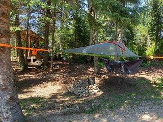 Tentes suspendue dans les arbres