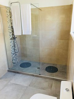 Master en suite shower - walk in waterfall shower