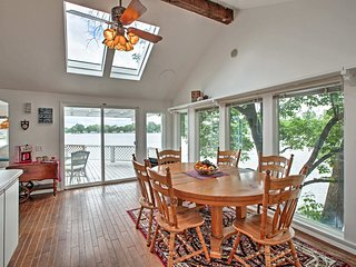 Waterfront Home w/Fire Pit & Dock on Big Monon Bay