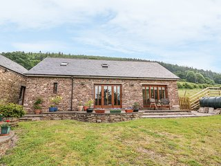 THE BARN, enclosed garden, farmyard, hillside views, near Abergavenny