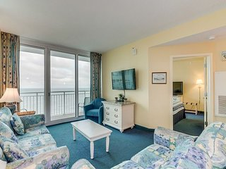 Oceanfront, corner end unit at a great resort with amazing pool amenities!!