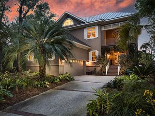 NEW LISTING! Stunning home w/huge deck, panorama river views & gourmet kitchen