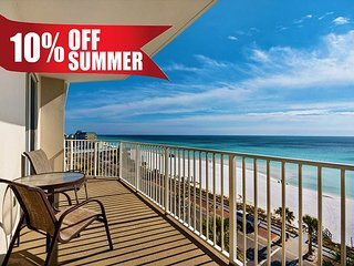 20% OFF Summer! Unobstructed GULF VIEW DLX Condo*Resort Pool/Spa + FREE Perks
